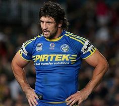 Nathan Hindmarsh: all the inspiration I ever need. When I'm doing it tough, I think 'WWHD? Hot Rugby Players, Australian Football, Rugby Men, Athletic Supporter, Beefy Men, Rugby League, Sport Man, Sports Teams, Beards