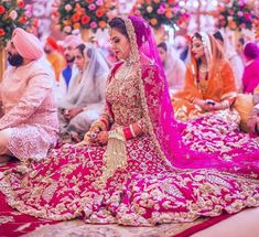 Looking for Out of this World Bridal Lehenga Designs? We bring the top lehenga trends that will make your heart skip a beat! Wedding Looks, Bridal Looks, Bridal Style, Dream Wedding, Garden Wedding, Pink Bridal Lehenga, Indian Bridal Lehenga, Pakistani Bridal, Sikh Bride