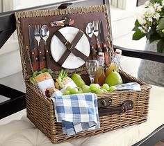 #potterybarn picnic for two. For more creative gift ideas check out: https://withabowcelebrations.com/blog/2016/1/22/unique-bridal-shower-gift-ideas-for-around-the-clock
