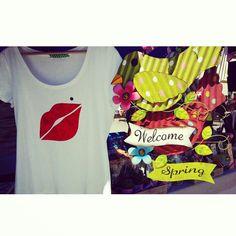 Nos encanta la primaver ;)  Camiseta kiss www.sichaccessories.com