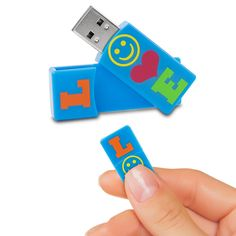 EMTEC Swivel Series 4GB USB 2.0 Flash Drive (Love) Stop using boring flash drives, and give your flash drive a little personality with the EMTEC Swivel Series 4 GB USB 2.0 Flash Drive. This small, compact flash drive features the word Love written on the front in bright colors and includes 4 GB of storage capacity. Now, you can store and transport all your most important photos, videos, music, and files. The flash drive features a swivel design so the USB connector easily swings in and out…