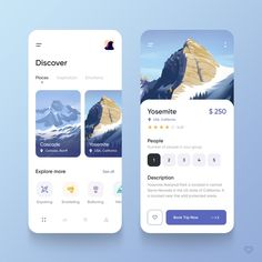 by Vadim Marchenko Ui Design Mobile, App Ui Design, Flat Design, Design Design, Design Trends, Interface Web, User Interface Design, Apps, Design Thinking