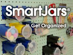 SmartJars® Pegboard Organizer by The Strollo Design Company — Kickstarter. I want these!
