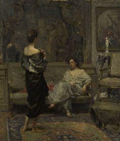 Ottavio Mazzonis Le Amiche 1951/1952 olio su tela, 95 x 80 cm. Fondazione Ottavio Mazzonis