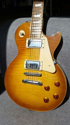 My Epiphone Les Paul Honeyburst or Iced tea, can't tell