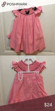 Stitches Smocking  2 piece Minnie Mouse Dress Only worn once stitched & smocked Matching Sets