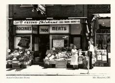 Adkin's Grocery Store, Mt. Healthy. Historical Photos, Grocery Store, Cincinnati, Ohio, Times Square, Island, Park, History, Healthy