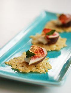 Fig & Parmesan Crisps by tastebuddies #Appetizer #Fig #Parmesan #tastebuddies