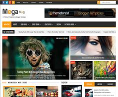 Mega Mag Responsive Magazine Blogger Template