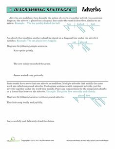 Diagramming Sentences Worksheets: Direct and Indirect Objects