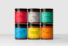 Jammy Yummy's packaging is just as fun as its name. Designed by Hey Studio , the jam's are hole-punched with vivid colors perfect to any occasion. The idea was to introduce new and unusual jam flavors, such as, Baby Portobello into the market in a way that will have even the pickiest of eaters grabbing for a jar.