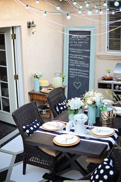 Outdoor Art -- DIY chalkboard created by Brittany of brittanyMakes