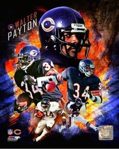 Walter Payton 2013 portrait - NFL Photo Poster (Chicago Bears): A beautiful, high quality photograph. Perfect for the NFL fan in your life! Bears Football, Nfl Chicago Bears, Nfl Dallas Cowboys, Football Players, Football Art, Sport Football, Nfl Photos, Walter Payton, Bear Pictures