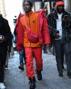 ASAP Rocky Wears Balenciaga Jacket, Calvin Klein Jacket and Nike x Vlone Sneakers | UpscaleHype
