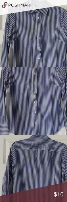 Old Navy button down cotton shirt Blue and white striped cotton button down.  Great shirt for the business casual office.  Comfy cotton shirt Old Navy Tops Button Down Shirts