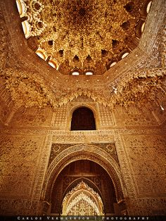 Hall of Abencerrajes by on DeviantArt - Sharlene Lowery Islamic Architecture, Futuristic Architecture, Beautiful Architecture, Beautiful Buildings, Art And Architecture, Architecture Details, Beautiful Places, Granada Spain, Grenade