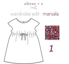 Marsala was named the Pantone color of the year for 2015. Here are some ideas on adding Marsala to Oliver + S patterns.