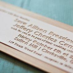 Laser Cut Wood Veneer Invitation