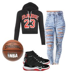 """""""Ball up # 23"""" by ssamantha17 ❤ liked on Polyvore"""