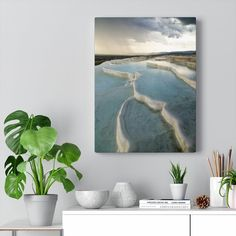 Excited to share the latest addition to my #etsy shop: Storm at the Pamukkale terraces in Turkey   Canvas gallery wrap #pamukkale #turkey #turkiye #turkeyprint #weather #storm Weather Storm, Pamukkale, Landscape Prints, Storm Clouds, Terraces, Photographic Prints, Scenery, Turkey, Around The Worlds