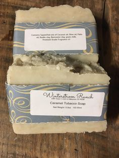 A personal favorite from my Etsy shop https://www.etsy.com/listing/476891569/caramel-tobacco-soap-bar