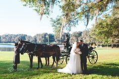 Grand Oaks Resort Wedding. #carriage #country #farm #Florida