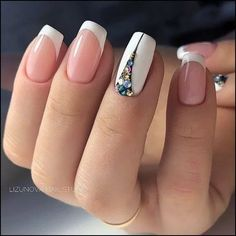 47 Stunning Short Square Nails Summer Design For Manicure Nails - Page 2 of 47 44 Frensh Nails, Nail Manicure, Cute Nails, Pretty Nails, Hair And Nails, Glitter Nails, Colorful Nail Designs, Beautiful Nail Designs, Nail Art Designs