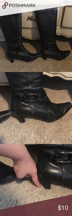 Boots Cute boots in good condition couple scratches on the heel but in really good condition. Anne Klein Shoes Heeled Boots