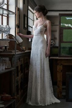 Wonderful Perfect Wedding Dress For The Bride Ideas. Ineffable Perfect Wedding Dress For The Bride Ideas. Dream Wedding Dresses, Boho Wedding Dress, Bridal Dresses, One Shoulder Wedding Dress, Wedding Gowns, Maxi Dresses, Lace Wedding, Delicate Wedding Dress, Art Deco Wedding Dress
