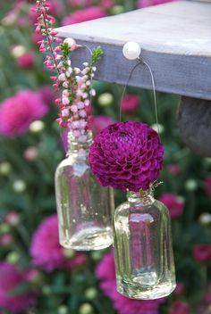 Sweet glass flower bottles