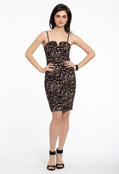 a0b348eae83d7 Party gals, rejoice: this trendy animal print party dress is the look to get