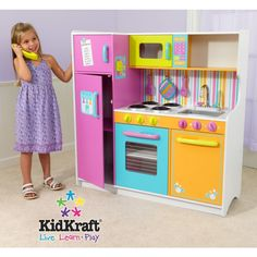 #ZoostoresPIN2WIN #holiday #gift Kidkraft Deluxe Big Bright Kitchen =