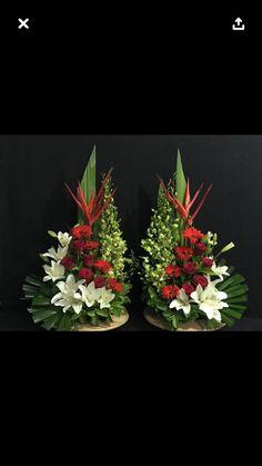 Funeral Flower Arrangements, Beautiful Flower Arrangements, Funeral Flowers, Floral Arrangements, Beautiful Flowers, Church Altar Decorations, Flower Decorations, Christmas Swags, Christmas Decorations