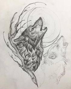"147 Likes, 1 Comments - Matt Buck (@he_draws) on Instagram: ""One wolf moon  @noidolsnyc  #wolftattoo #wolfmoon"""