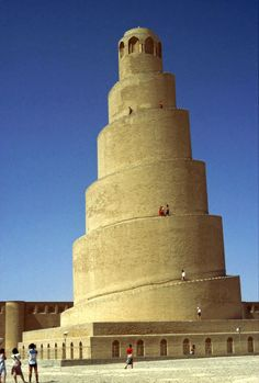 The spiral minaret of the Great Mosque of Samarra, Iraq  1979  see my ebook - One Foot in Front of the Other - Full Stride https://www.amazon.com/One-Foot-Front-Other-Stride-ebook/dp/B01GT0CXDQ/?qid=1465518508&s=digital-text&sr=1-1&keywords=neil+rawlins&ie=UTF8&ref=sr_1_1