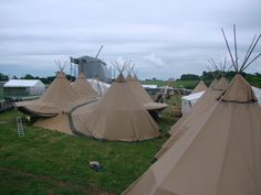VIP festival tipis with World Inspired Tents