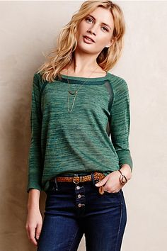 Very cute. BUT the sheer back doesn't work for me! Veronica Space-Dyed Pullover #anthropologie
