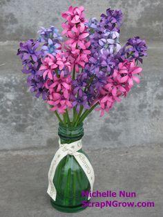 March 2013 Build A Spring Bulb Garden Box Week 3 Hyacinths. Step By Step Tutorial @ www.scrapngrow.com