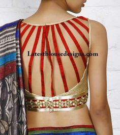 In this website, we have given a variety of collection of different sari blouse designs. There are images of new blouse design patterns begin from simple. Blouse Back Neck Designs, Sari Blouse Designs, Choli Designs, Designer Blouse Patterns, Dress Designs, Blouse Styles, Latest Saree Blouse, Trendy Sarees, Beautiful Blouses