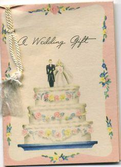 1942 Wedding card