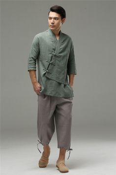 http://www.ebay.com/itm/Mens-TaiJi-Hanfu-kimono-Linen-Dress-Shirts-Leisure-Loose-Three-Asymmetric-Coat-/201627138580?var=&hash=item2ef1e9fa14:m:mg0OWbfujLJGUxsYhbgx-7w