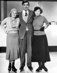 Jean Harlow, Clark Gable and Myrna Loy