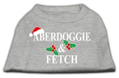 Aberdoggie Christmas Screen Print Shirt Grey XXXL(20)