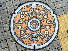 Izumisno city Osaka pref manhole cover (大阪府泉佐野市のマンホール) by MRSY, via Flickr