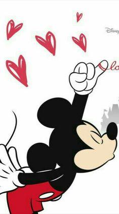 Wallpaper! Minnie e Mickey!