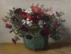 Johannes Evert Hendrik Akkeringa | 1861 - 1942 Flowers in a ginger pot