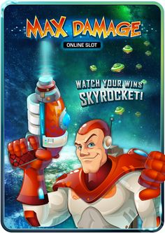 Max Damage Online Slot Game Arcade Games, Slot, Comic Books, Cartoons, Comics, Comic Book, Graphic Novels, Comic