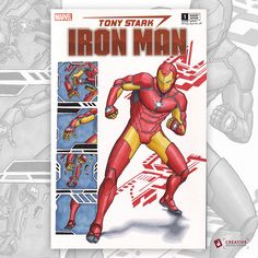 Iron Man sketch cover I did yesterday for Thomas Chesnut for his collection of armours done like John Romita Jr.'s Iron Man #126.