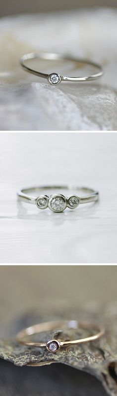 Beautiful Diamond #Wedding Rings in white gold, silver, and gold.