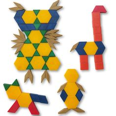 Kindergarten Geometry: Pattern Block Animals  #kindergarten math  #kindergartenmathcenters